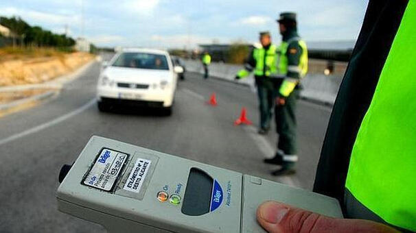 Alkoholkontroll. Foto: Guardia Civil